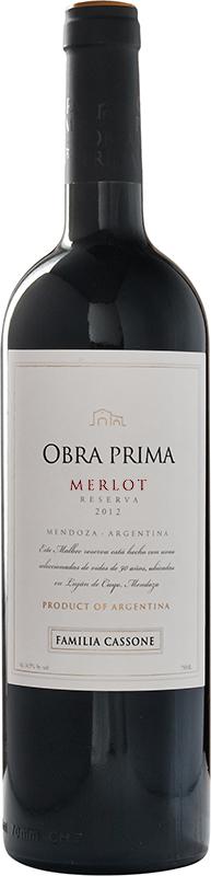Obra Prima Reserva Merlot 2012  - Familia Cassone