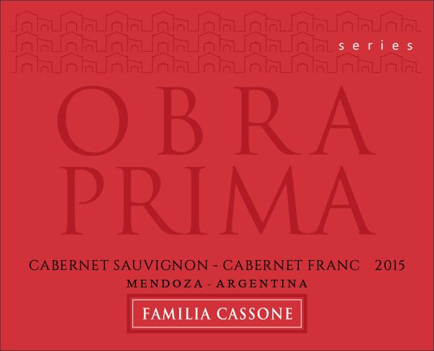 Obra Prima Reserva Series Red  2015  - Familia Cassone