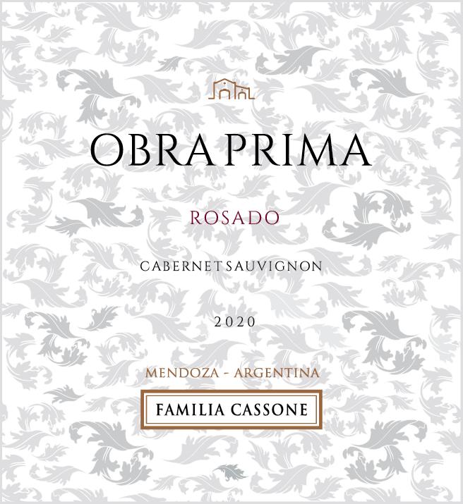 Obra Prima Rosado de Cabernet Sauvignon 2020  - Familia Cassone