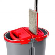 Mop Multiuso Lava e Seca Duplo Wap Cinza Com Vermelho
