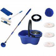 Perfect Mop 360 c/  Rodo Limpa Vidros 50 Cm e Pano Microfibra