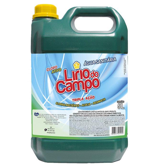 Água Sanitária 5 litros com Cloro Ativo