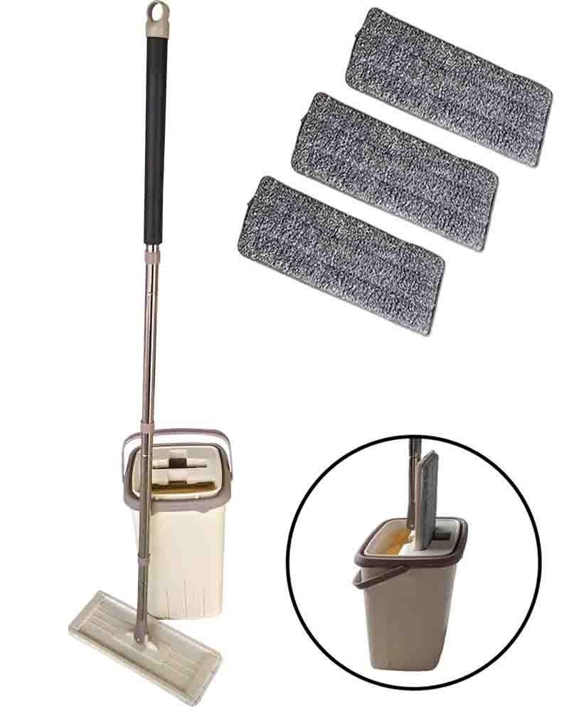 Balde Mop Flat Easy Limpador Multiuso Lava e Seca C/ 3 Refil