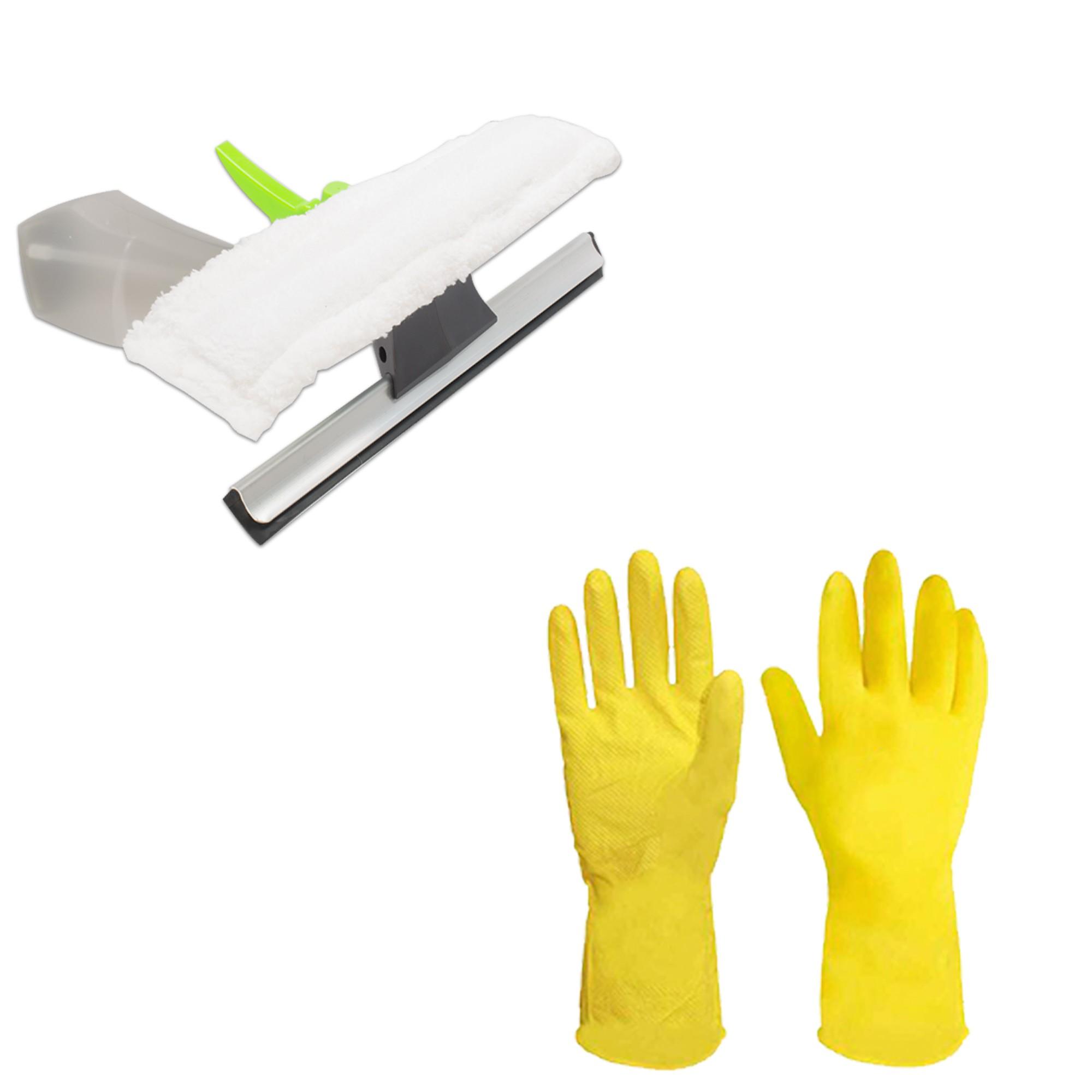Balde Mop Premium Mor Cesto Inox 2 Refis Limpa Vidros e Luvas