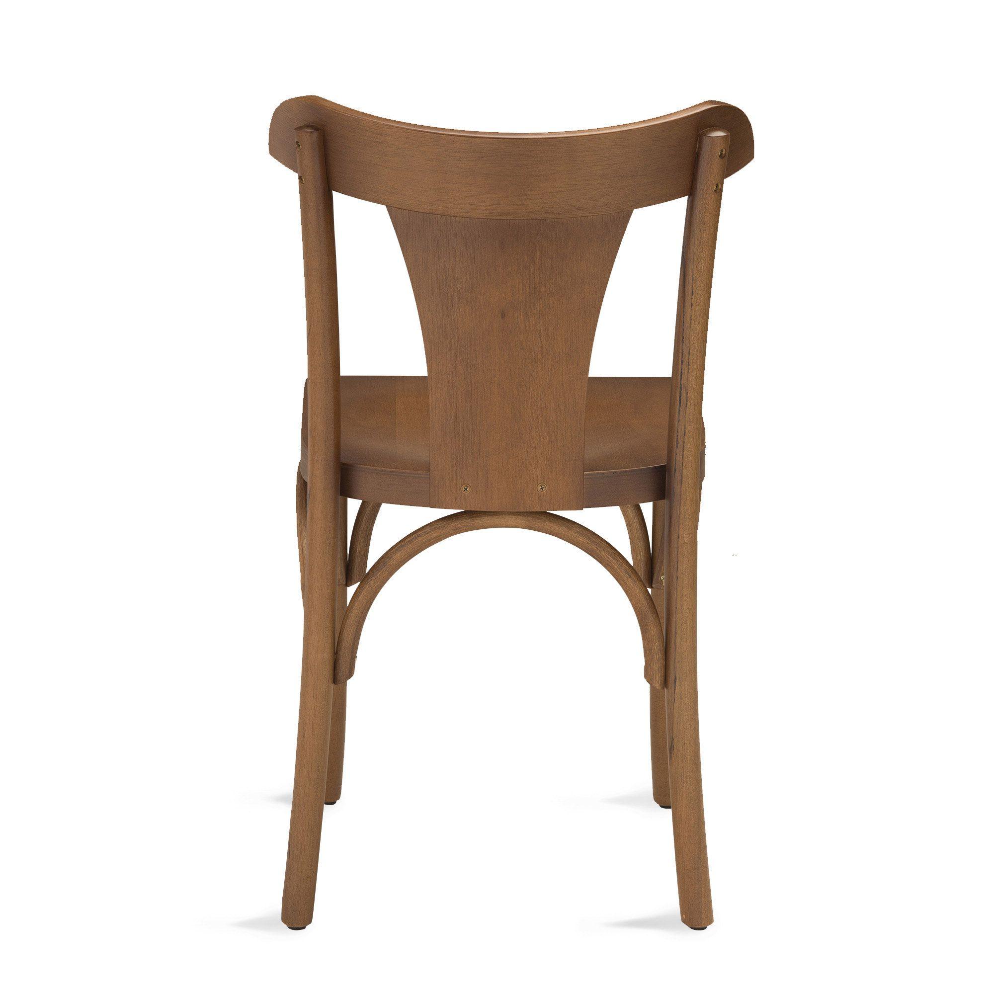 Cadeira Amapá De Madeira Tauri Com Encosto e Assento Anatômico Ergonômico