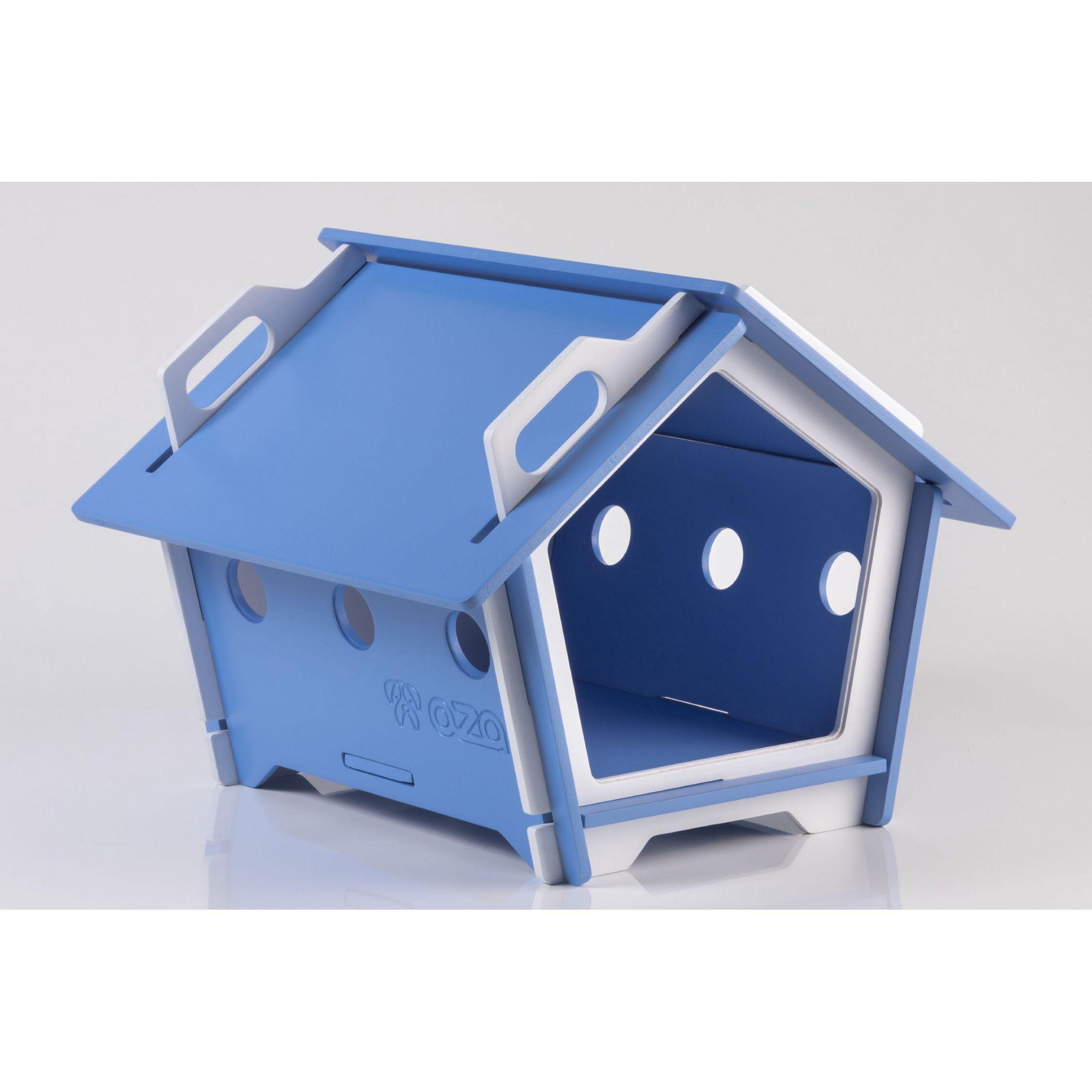 Casa De Cachorro Em Madeira - Tam P Pentagonal