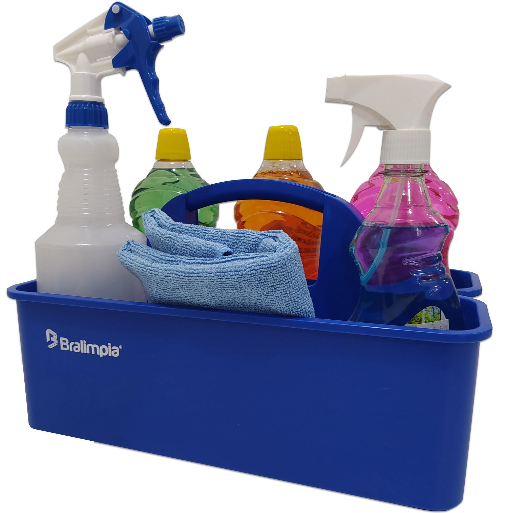 Cesto Funcional E Organizador De Produtos Limpeza Bralimpia