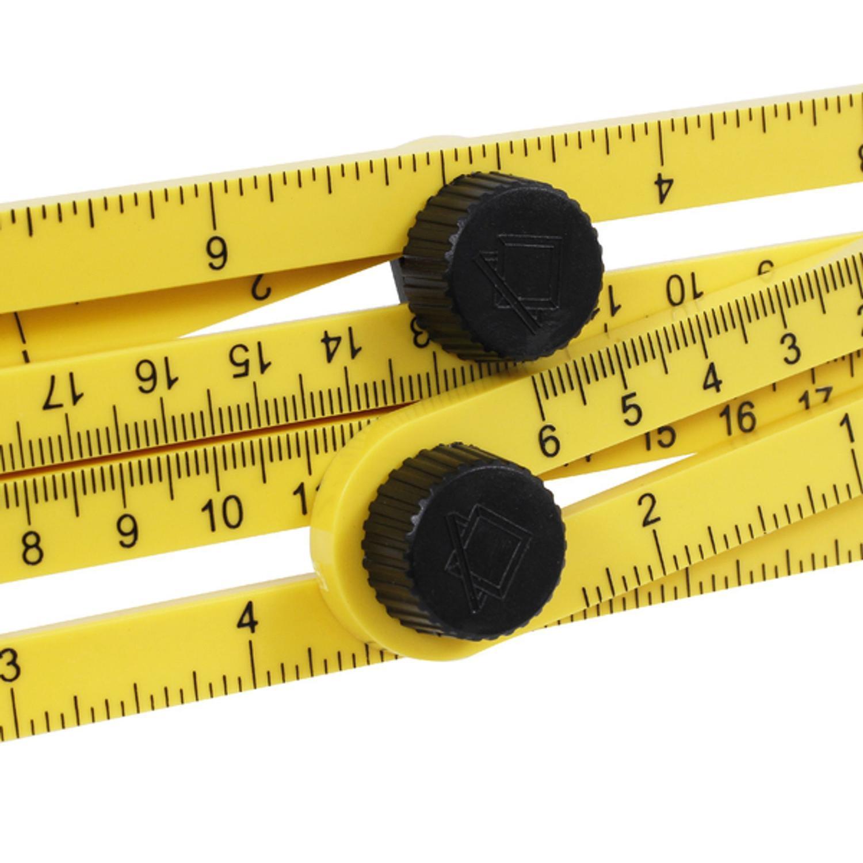 Esquadro Plástico Ajustável Multifuncional 4 Réguas Vonder