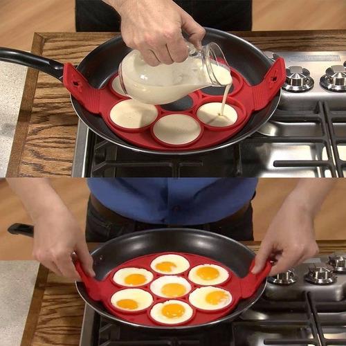 Forma Molde de Silicone Assadeira para Panquecas e Ovos