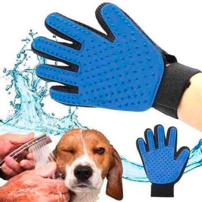 Kit 2 Luvas Escova Magnética Tira Pelos Cães e Gatos