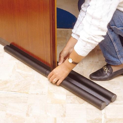Kit 3 Rolinhos Veda Porta Protetor flexível ajustável 90 Cm
