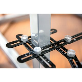Kit Esquadro Articulado 6 seções e Gabarito Copiador Vonder