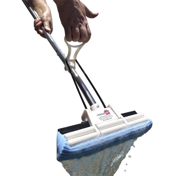 Kit Rodo Mágico 27 Cm Com 6 Refis Esfregão Mop Limpeza