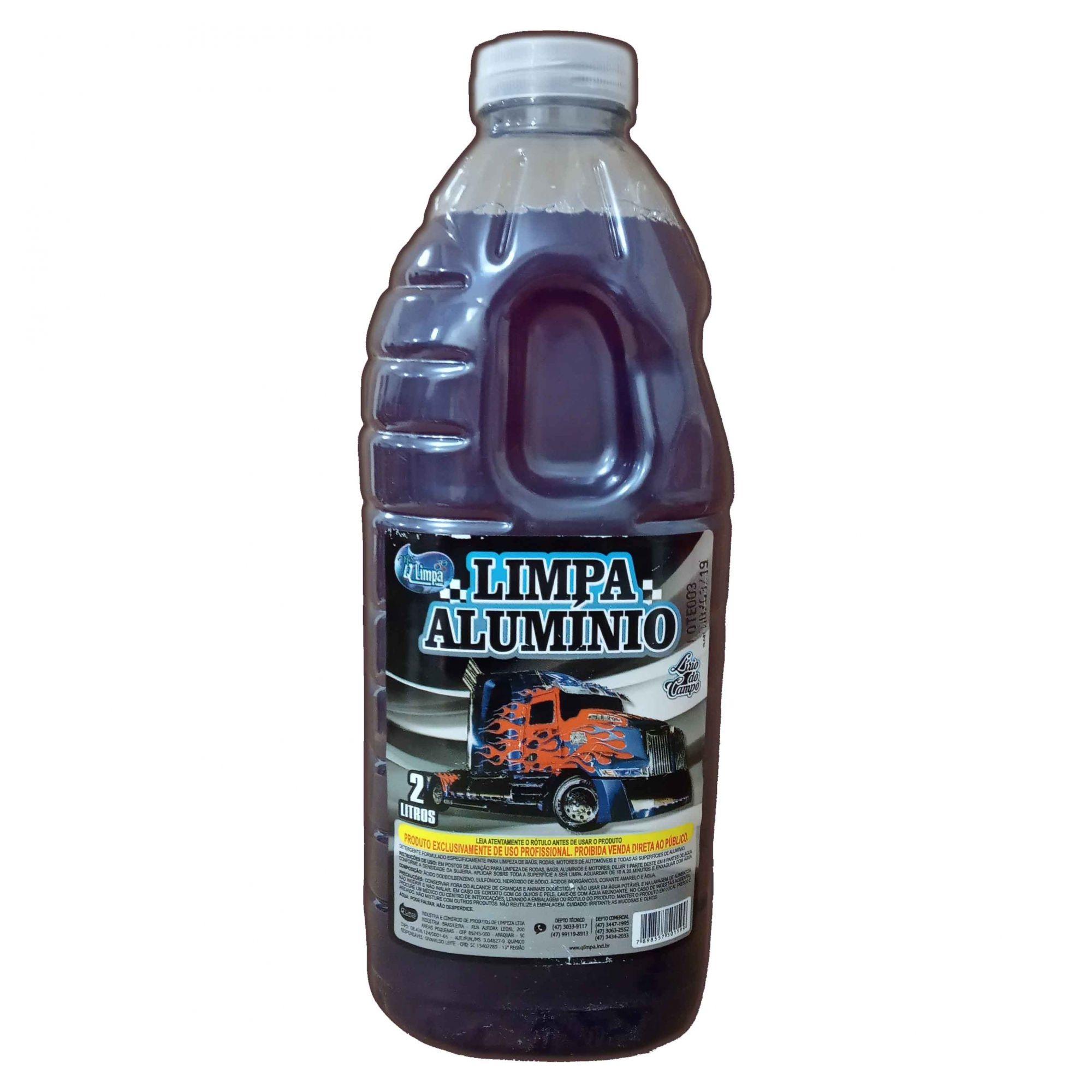 Limpa Alumínio Automotívo, Limpeza Pesada 2 Lts
