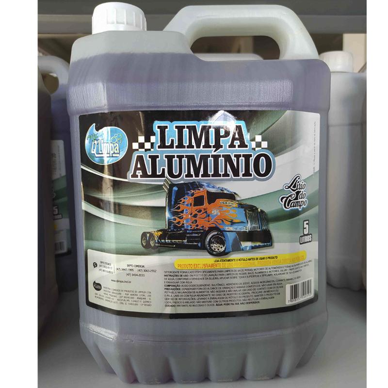 Limpa Alumínio Concentrado Profissional Lírio do Campo 5 Lts