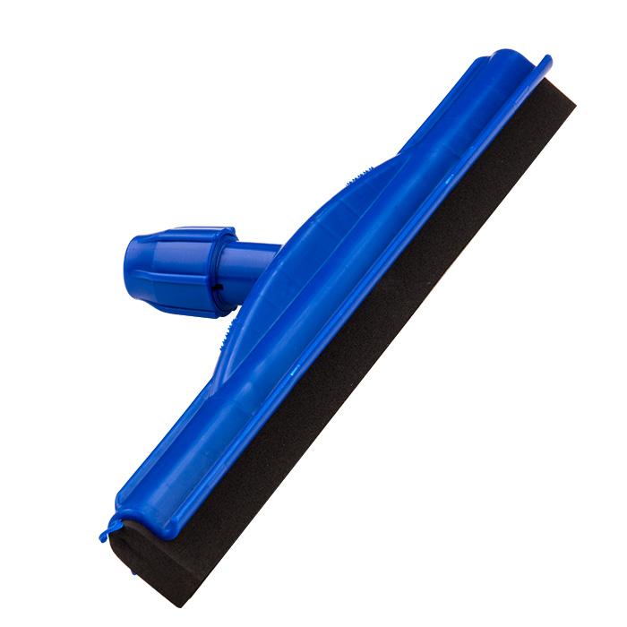 Limpa Vidro Extensível 7,5Mts Rodo Borracha 45Cm e Espanador