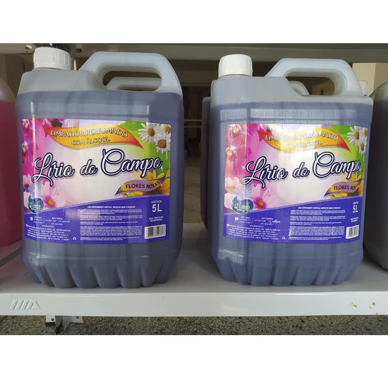 Limpador Perfumado Com Álcool Lírio Do Campo 5 Litros