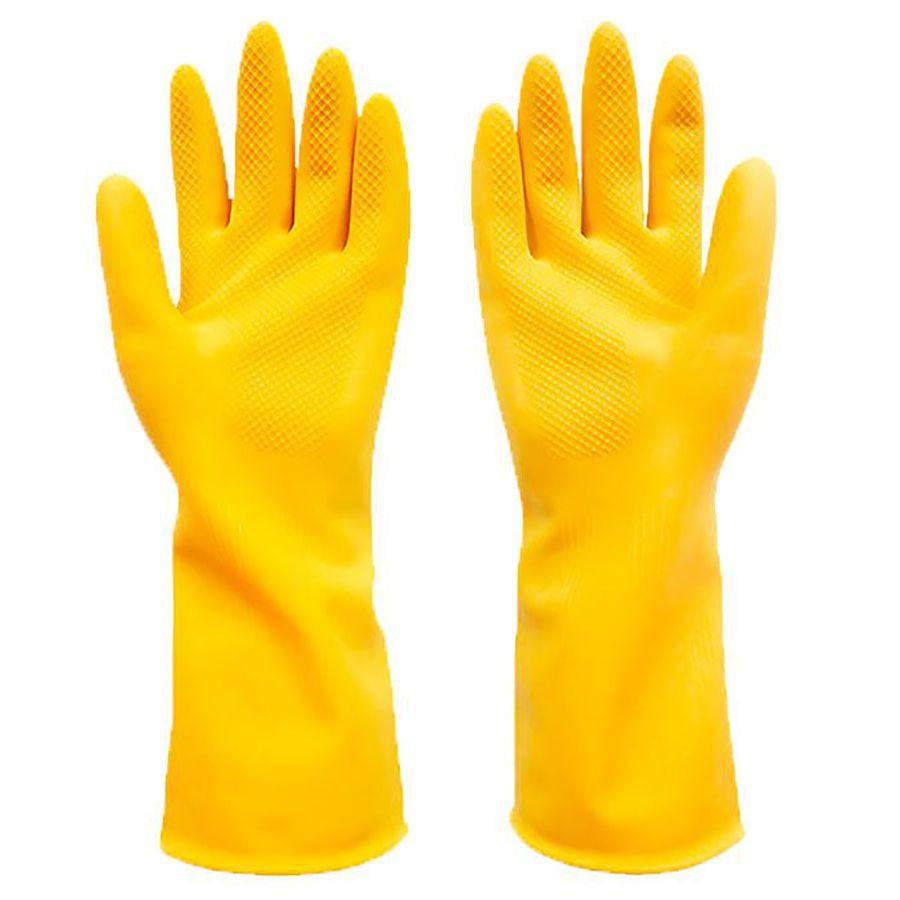 Luva Látex Multiuso Amarela G