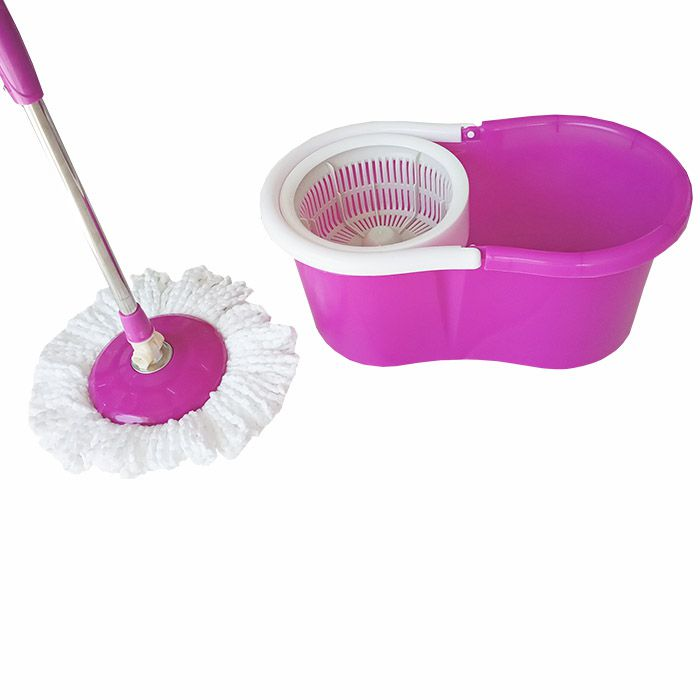 Mop Esfregão Com Balde De Cesto Plástico Com Refil Esfregão e Tira Pó
