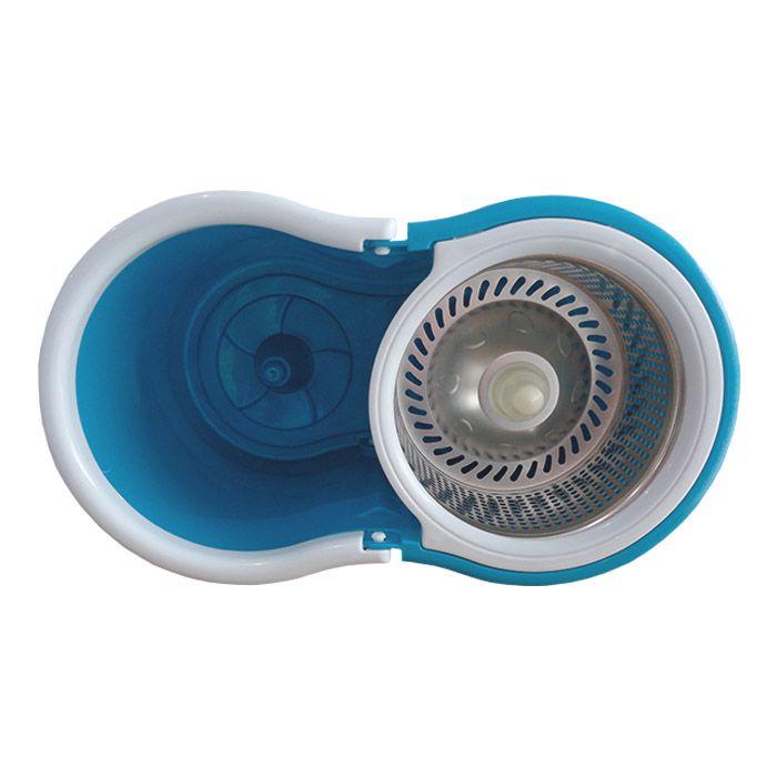 Mop rotating cesto inox 2 refil 1 escovão 1 tira pó