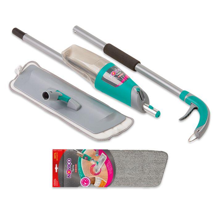 Mop Spray Noviça Com Reservatório com 1 Refil Extra 42 cm