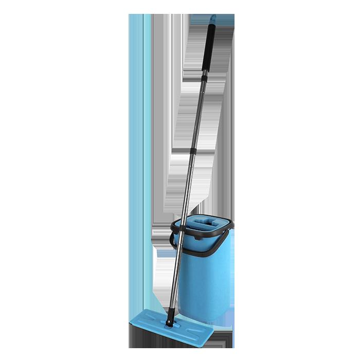 Mop Tira Pó C/ Balde Flat Lava e Seca Com Vassoura Mágica
