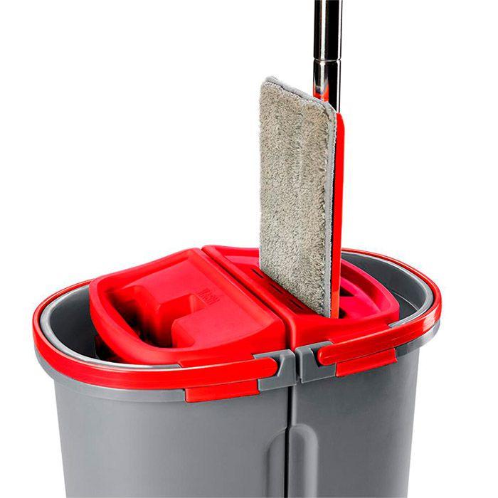 Mop Tira Pó Duplo Lava Seca Wap Esfregão Rodo Limpador Vidros Magnético