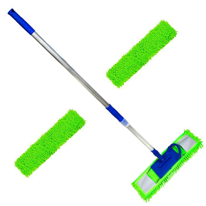 Mop tira pó microfibra 60 Cm Com 2 Refis Extras