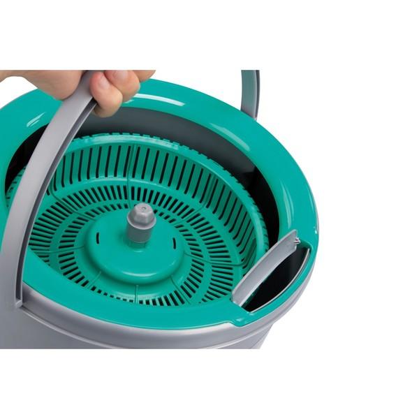 Mop Twister Noviça 2 Refil Microfibra, 1 Tira Pó e 1 Escovão