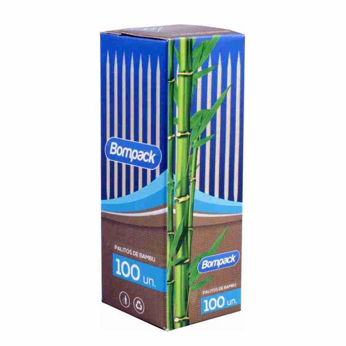 Palitos de Bambu Com 100 Unid