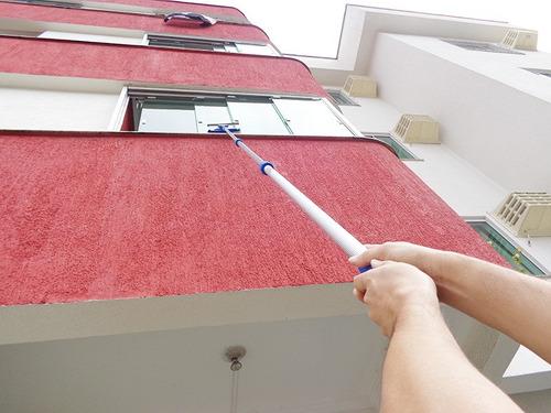 Rodo Limpa Vidros Extensor 3,10 Mts Com Espanador Eletrostático
