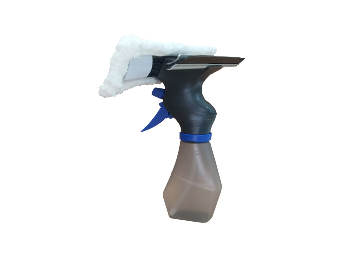 Rodo Limpa Vidros Spray Borrifador e Reservatório Kit 3 Unid