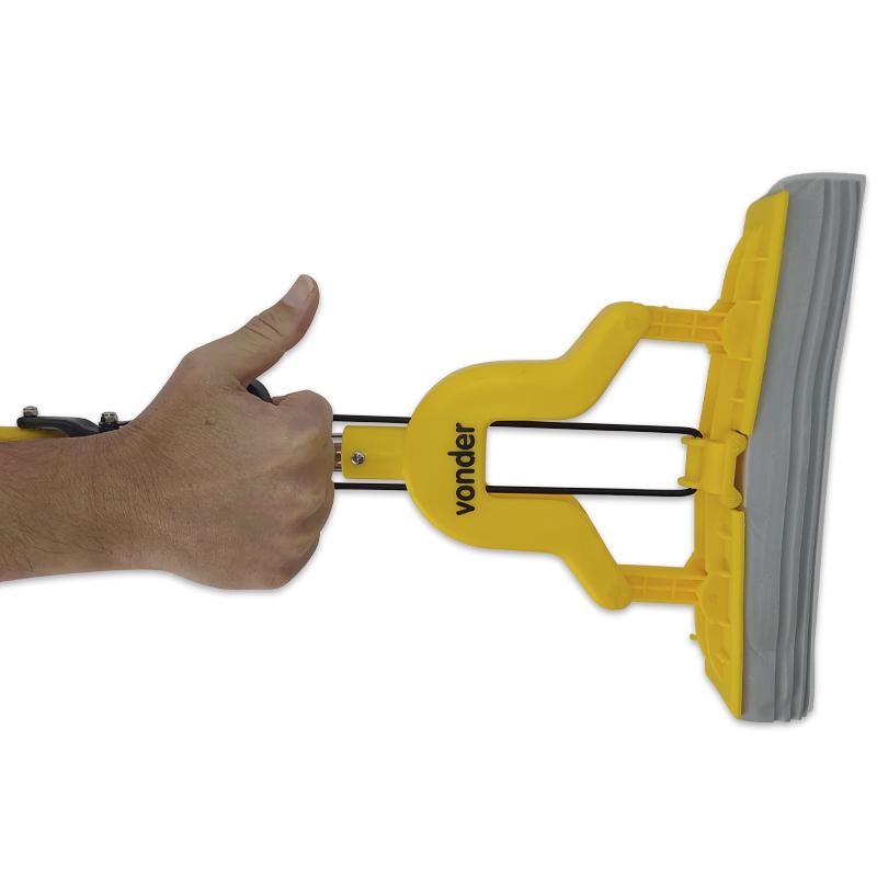 Rodo Mágico Dobrável Mop Limpador de Piso Vonder Com 2 Refil