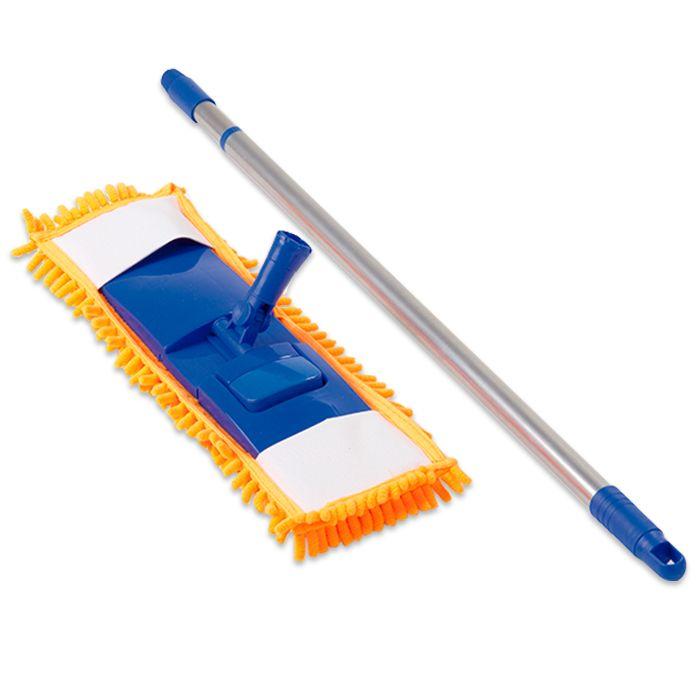 Spray Mop C/ Refil, Mop Tira Pó C/ Rodo Borracha Dupla 45 cm