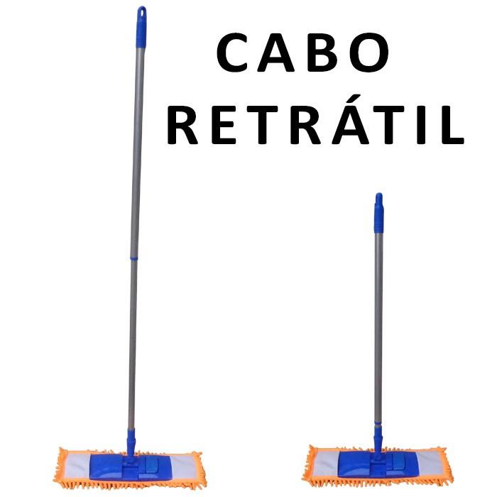 Spray Mop Com Refil + Mop Tira Pó Com Rodo Borracha Dupla