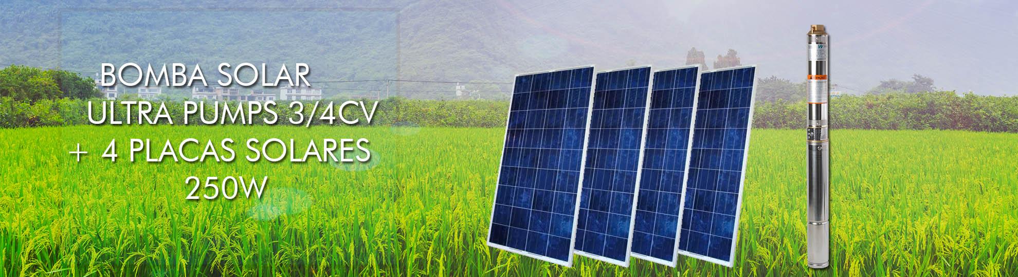 bomba solar + paneis solares