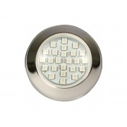 Power LED 9W Inox Branco Rosca Brustec