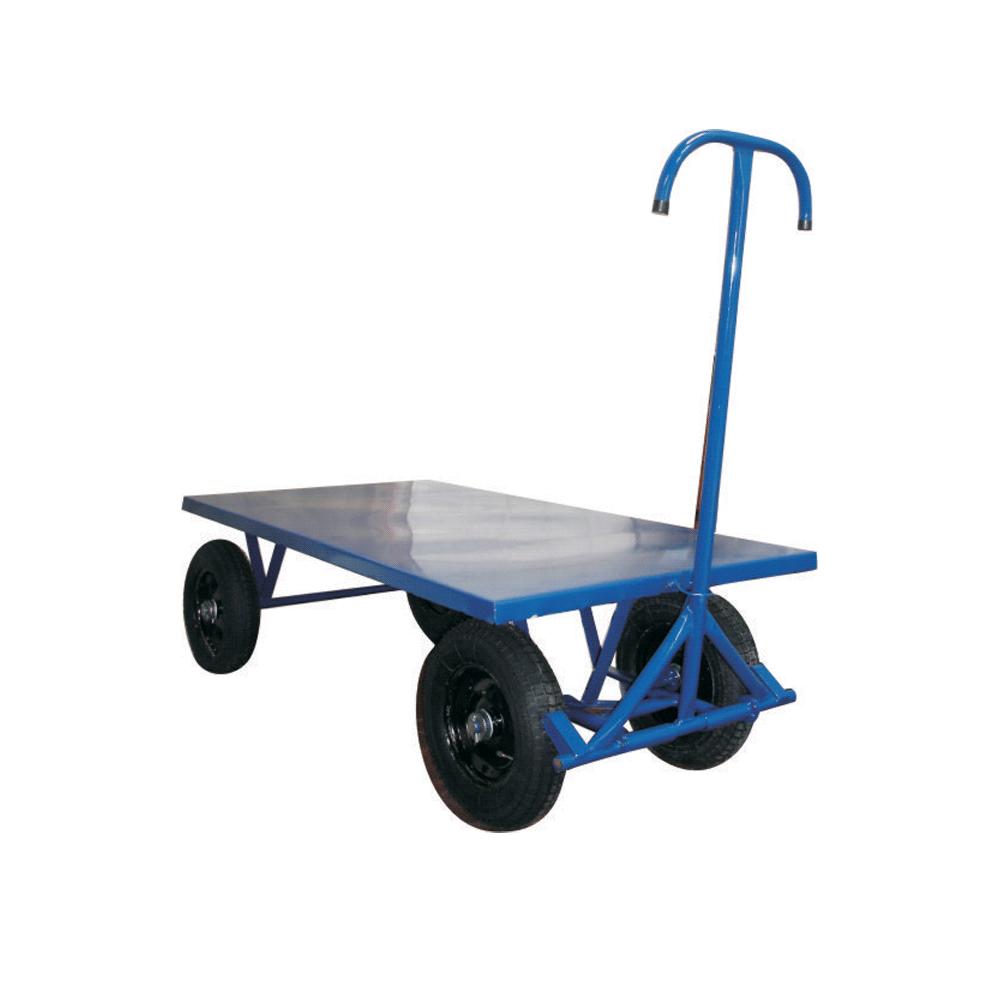 Carrinho Plataforma 5ª roda c/plataforma chapa 800 Kg c/roda pneumática 350x8 PCR