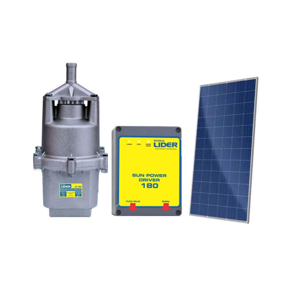 Conjunto Solar Bomba Líder LSP 180 + Painel 330W