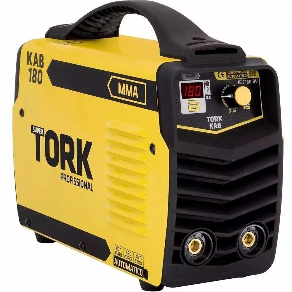 Máquina De Solda Inversor Tork Ie-7180-bv 180 Ah - Kab 180