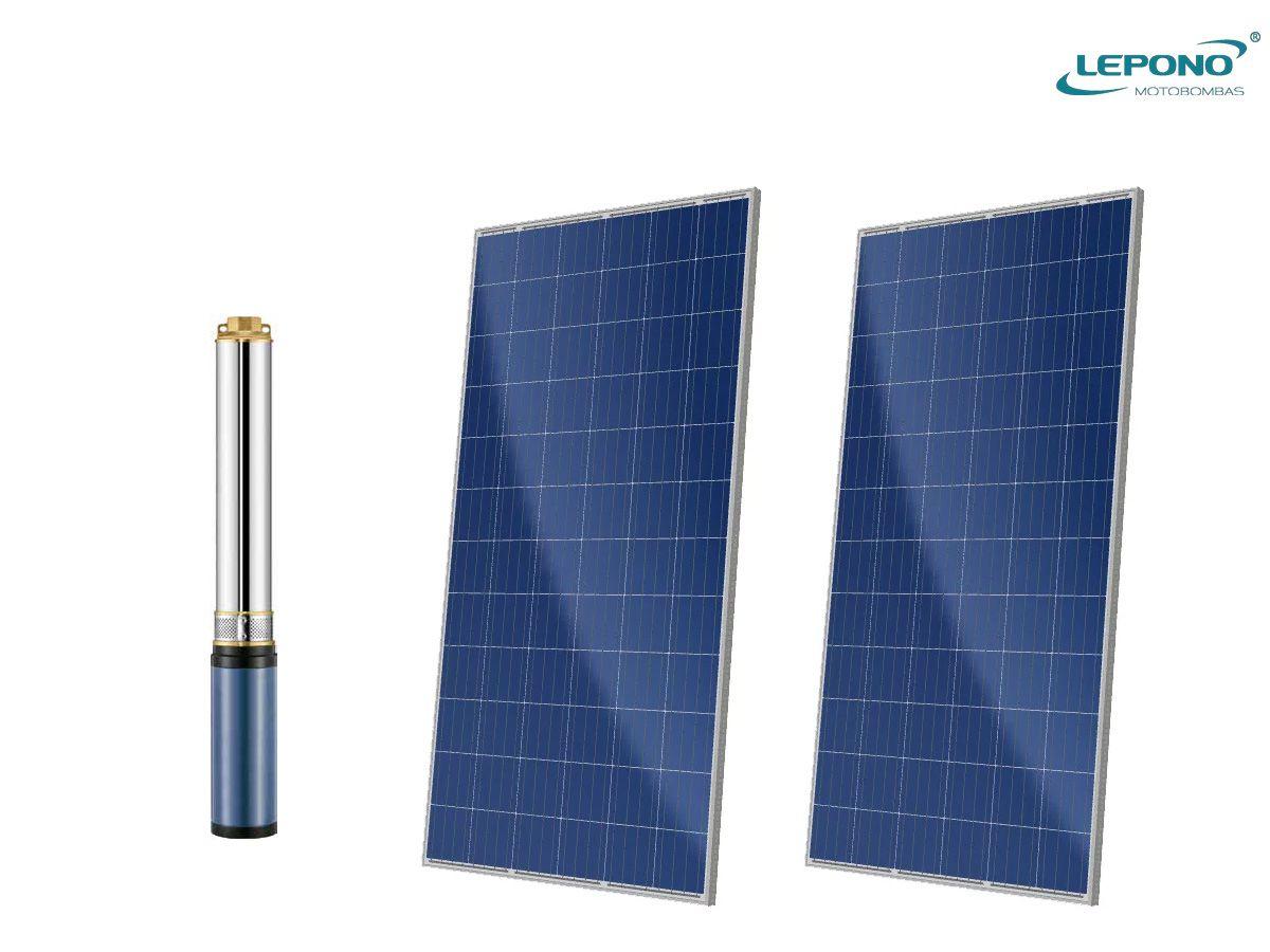 Motobomba Solar 1/2 CV 60V + 2 placas solares Doit