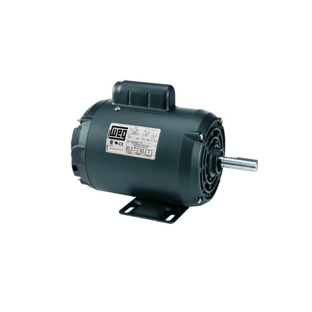 Motor Elétrico WEG IP21 - Nema 56 - 3/4 CV 2 Polos 110/220V Monofásico com Eixo Chavetado
