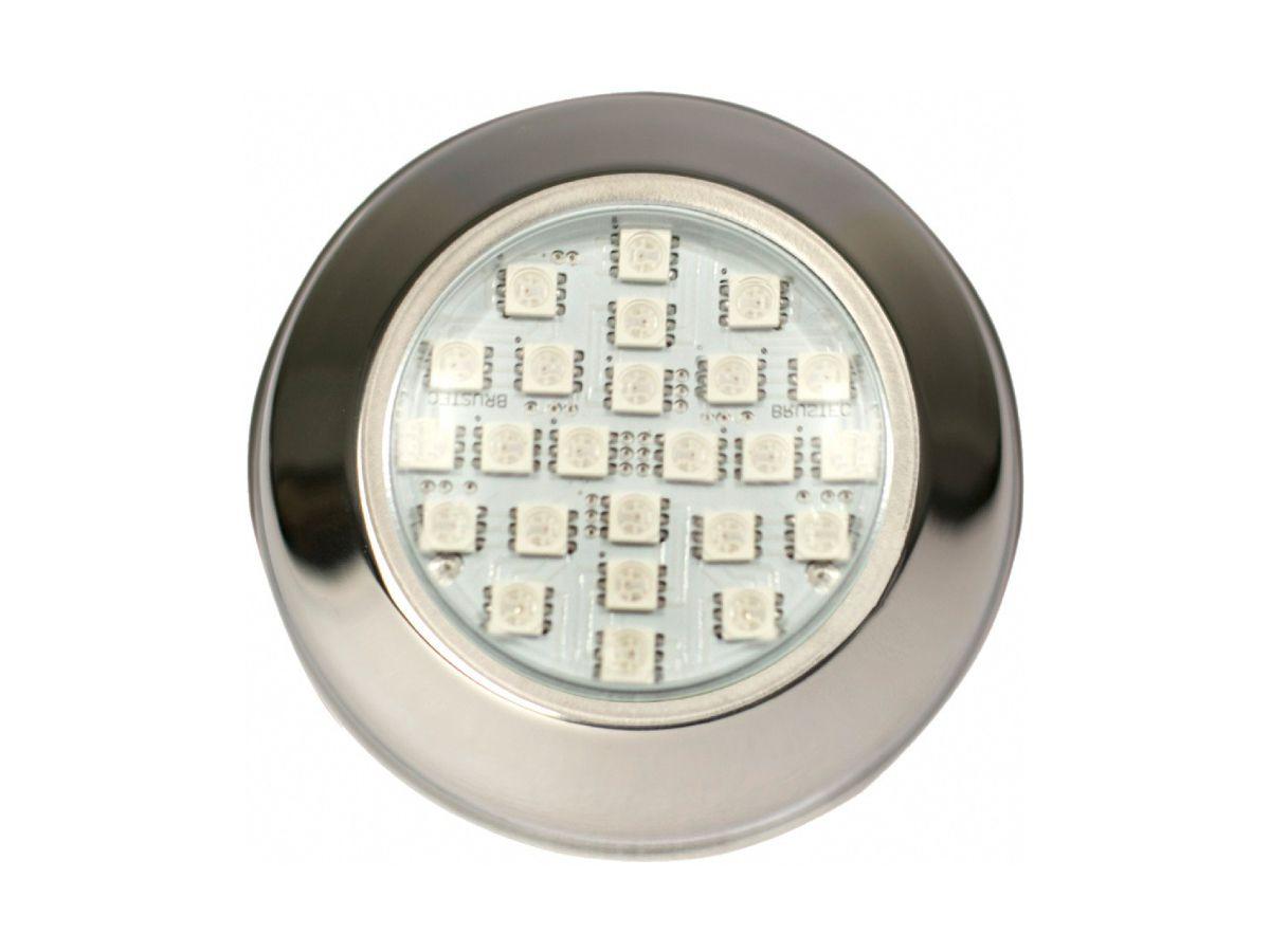 Power LED 9W Inox Branco Rosca Brustec