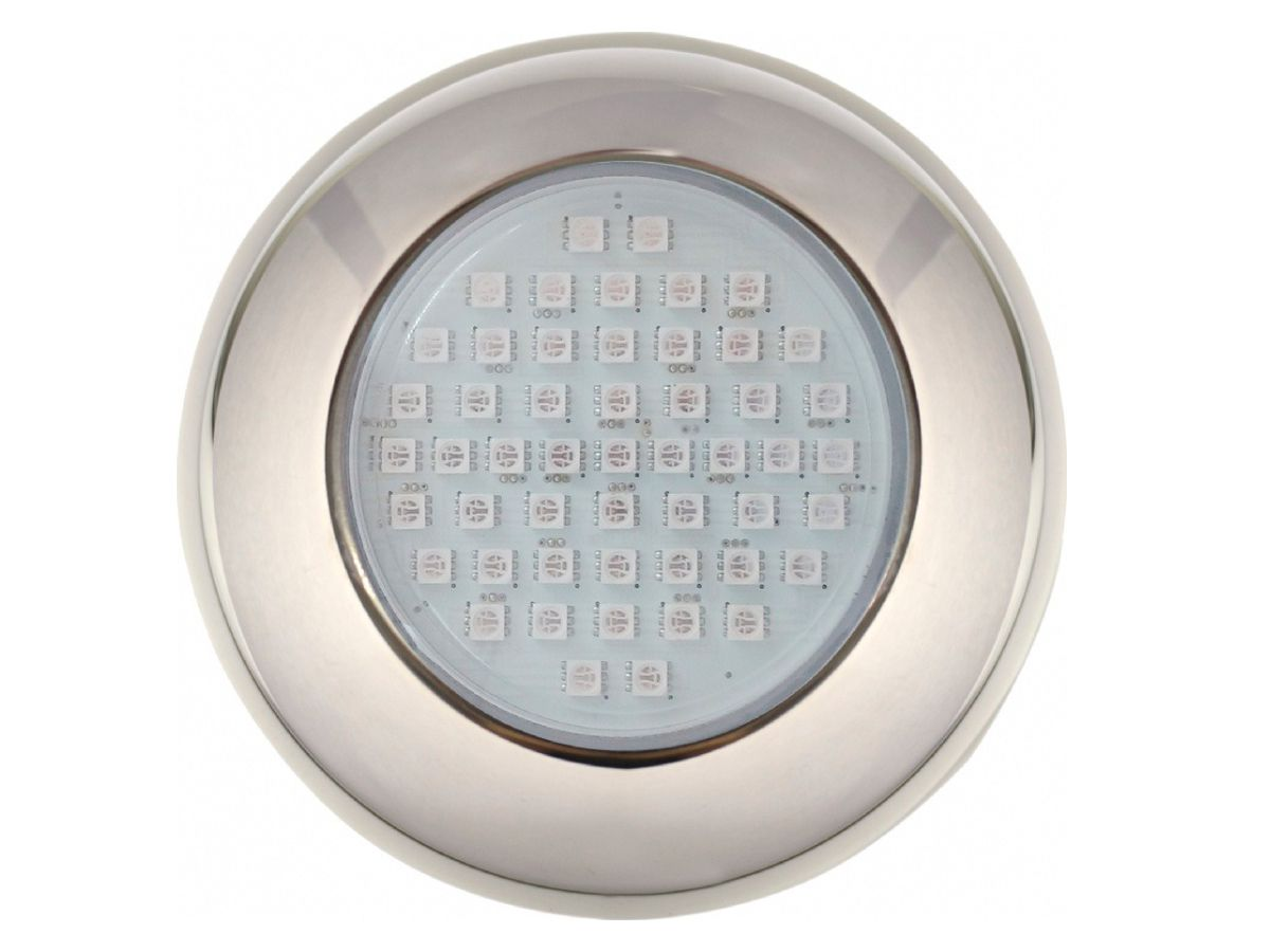 Refletor LED Inox Branco 37 Lâmpadas Brustec