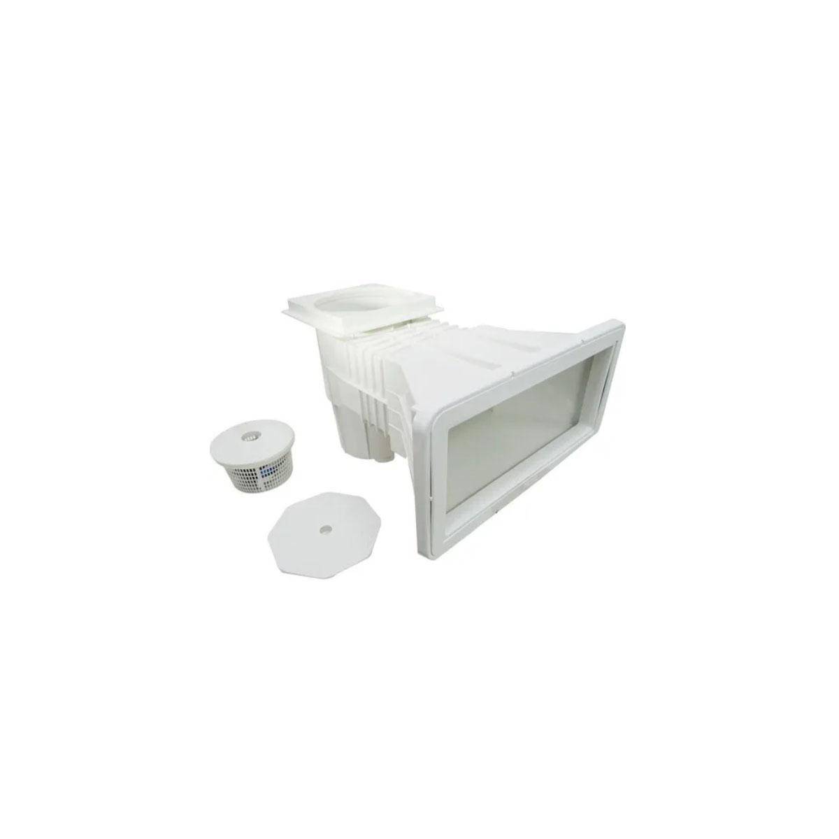 Skimmer boca larga  vinil/fibra/alvenaria branco Sodramar