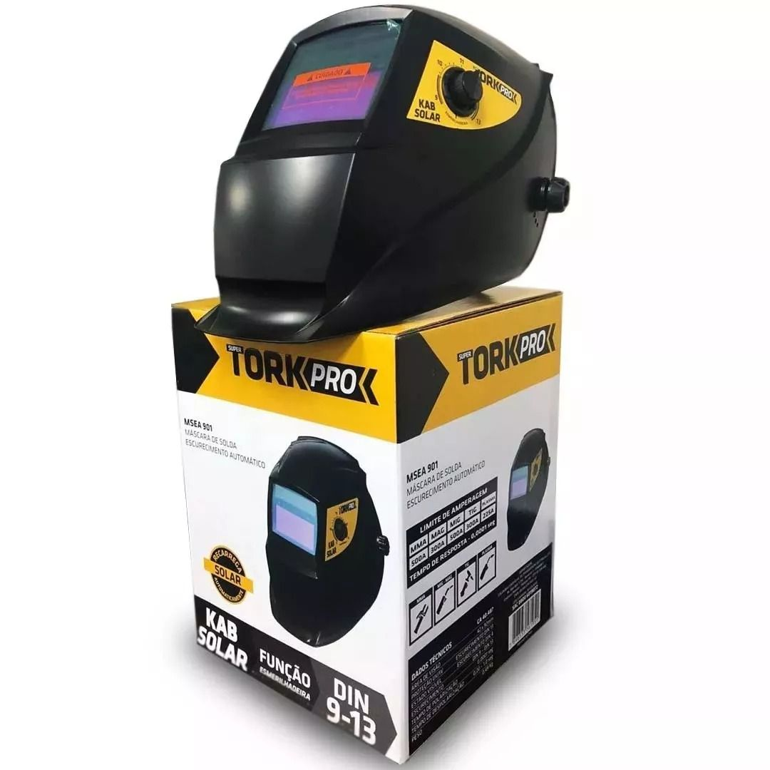 Máscara De Solda Automática Auto Escurecimento Tork Msea-901