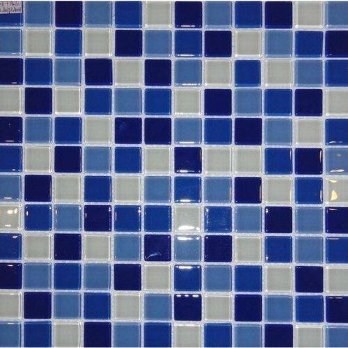 Pastilha de Vidro 2,3x2,3 Azul Lbg23-MIXBLUE PÇ La Bella Griffe