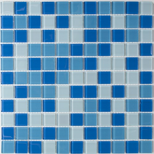 Pastilha 2,5x2,5 Cristal Mescla Azul Claro Pç Van Gogh