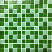 Pastilha de Vidro 30x30 Verde Lbg23-MIXGREEN 2,3X2,3 La Bella