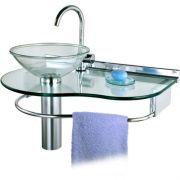 Lavabo Cris-glass Agua Marinha 70x45,5 977 Crismetal